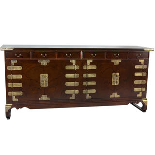 Korean Antique Style 8 Drawer Buffet Credenza (Korea)
