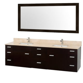Encore Double Espresso 78-inch Vanity with Mirror