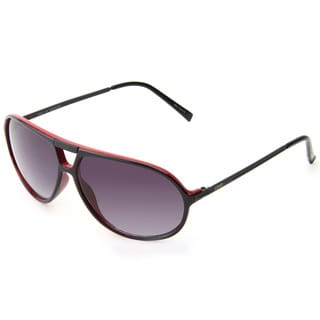 Izod Unisex IZ 355 10 Black And Red Plastic Aviator Sunglasses