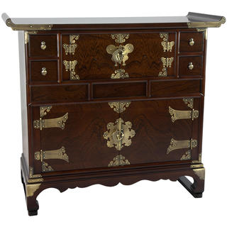 Korean Double Cabinet Design Scholar's Chest (Korea)
