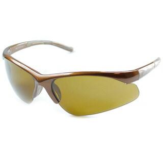 Izod Unisex IZ 348 51 Brown Plastic Sport Sunglasses