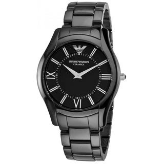 Armani Men's 'Super Slim' Black Ceramic Watch