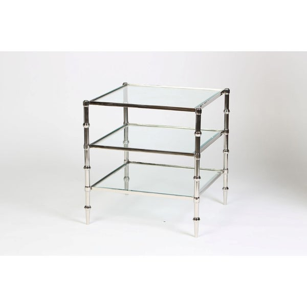 Square Glass Accent Table