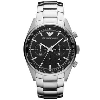 Armani Men's 'Sportivo' Black Dial Chronograph Watch