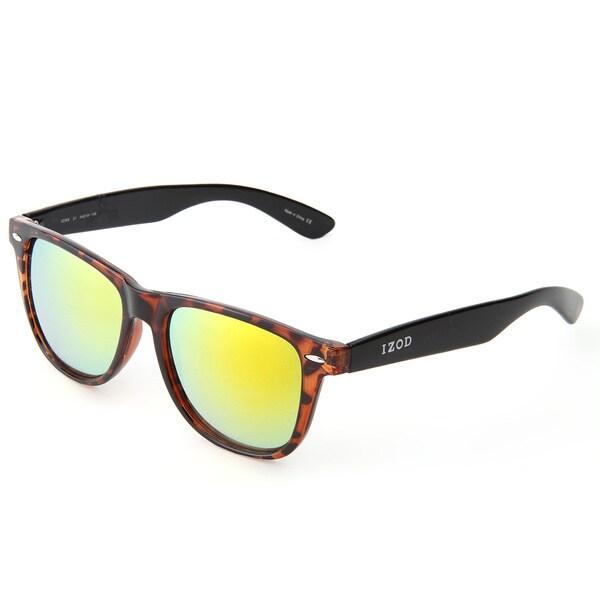 Izod Unisex IZ 368 21 Tortoise/Black Plastic Fashion Sunglasses