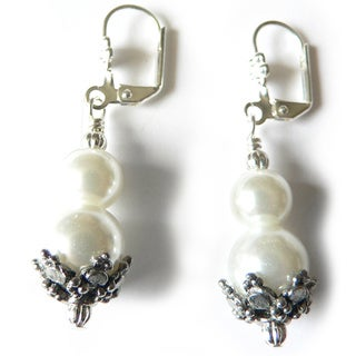 Palmtree Gems 'Gemma' Glass Pearl Dangle Earrings