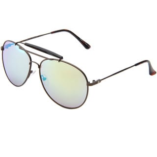 Izod Unisex IZ 364 51 Brown/Tortoise Metal Aviator Sunglasses