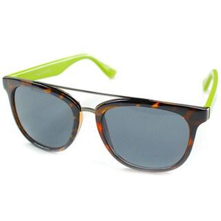 Izod Unisex IZ 357 26 Tortoise/ Lime Plastic Sunglasses