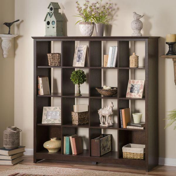 Bush Furniture Buena Vista 16 Cube Storage Bookcase