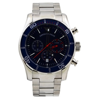Armani Men's 'Sportivo' Blue Dial Chronograph Watch