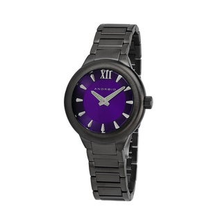 Android Stainless Steel Purple Dial Radius Midsize Automatic Watch