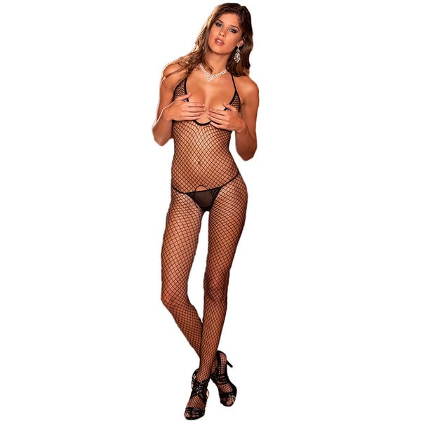 Rene Rofe Deep Plunge Industrial Net Bodystocking
