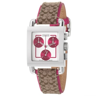 Coach Women's 'Legacy Harness' Stainless Steel Chronograph Watch