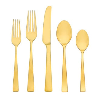 Gorham Argento Gold Luster 5-Piece Flatware Place Setting
