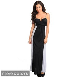 Stanzino Women's Colorblock Empire Cut Tank Maxi Dress