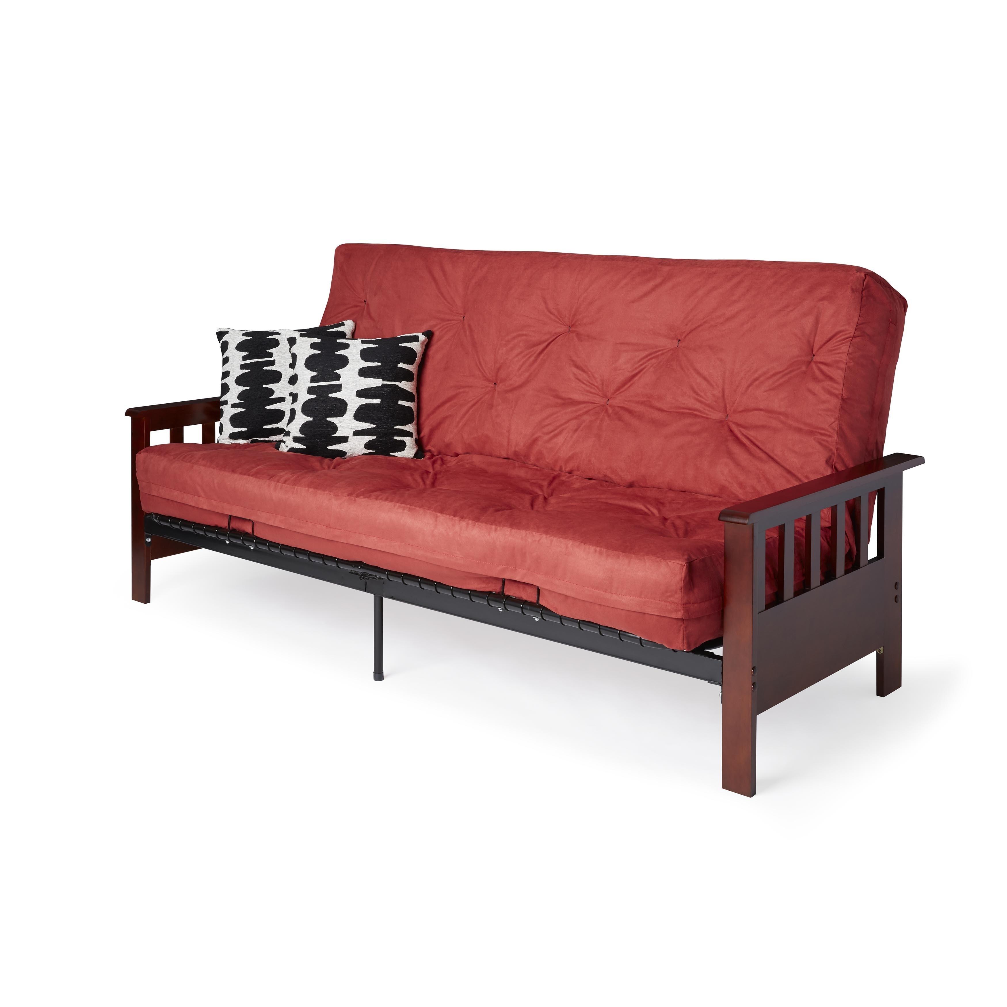 Watch Mainstays Baja Futon Sofa Sleeper Bed, Multiple Colors video