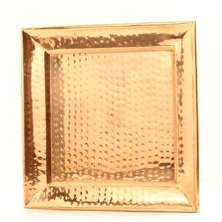 11-inch Square Decor Copper Hammered Tray