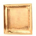 11-inch Square Decor Copper Hammered Tray