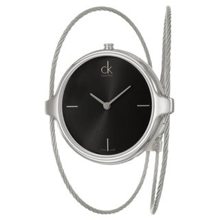 Calvin Klein Women's 'Agile' Black Dial Stainless Steel Swiss Quartz Watch