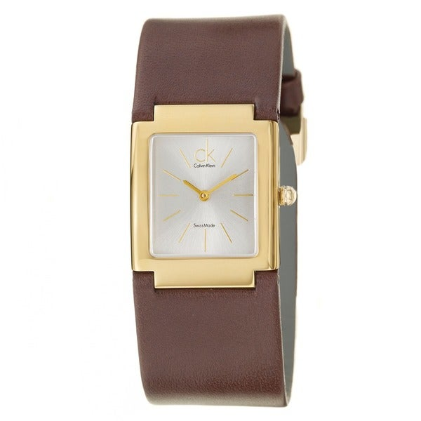 Calvin Klein Women's 'Dress' Stainless Steel Yellow Goldplated Swiss Quartz Watch