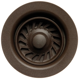 Matte Chocolate Brown Disposal Flange and Stopper
