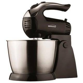 Brentwood SM-1153 5 Speed Stand Mixer- Black & Stainless