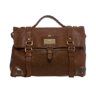 Mulberry Oversized Shiny Leather Day Satchel Bag