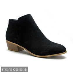 Betani Women's 'Ruby-2' Low Chunky Heel Ankle Boots