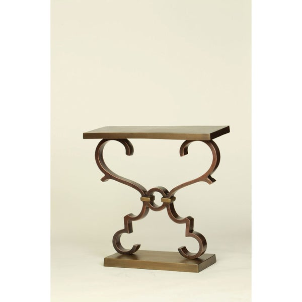 Bronze and Brass Accent Table