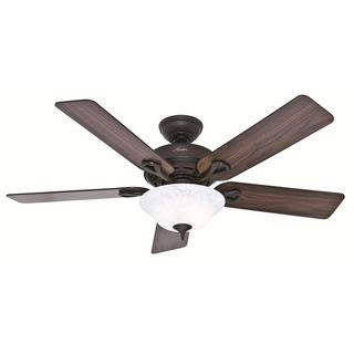 "Hunter 52"" Kensington Ceiling Fan with LED Light Kit and Pull Chain - New Bronze"