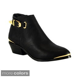 Betani Women's 'Ruby-5' Low Chunky Heel Ankle Boots