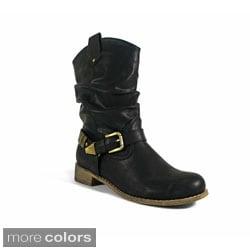 Betani Women's 'Sabrina-3' Slouchy Mid-calf Boots