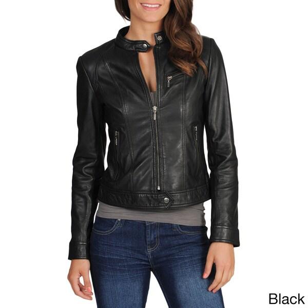 Whet blu Women's Motocross Leather Jacket - Overstock Shopping - Top