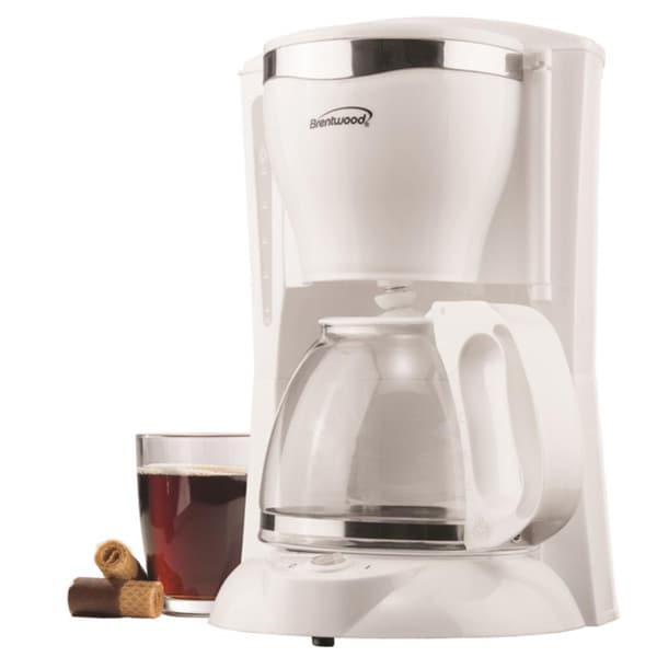 Brentwood TS-216 12 Cup Coffee Maker- White