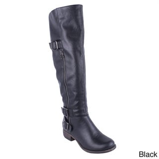 Blossom Women's 'Zoey-6' Knee-high Riding Boots