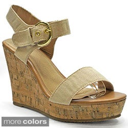Betani Women's 'Debra-2' Ankle Strap Wedge Sandals