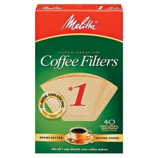 Melitta 620122 #1 Natural Brown Paper Cone Coffee Filters- 240 Count
