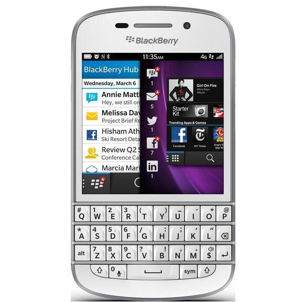 Blackberry Q10 GSM Unlocked OS 10 Cell Phone - White