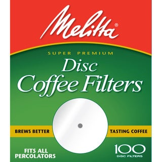 Melitta 628354 Paper White 3-1/2 Disc Coffee Filters- 400 Count