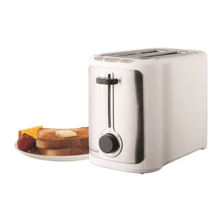 Brentwood TS-290W 2 Slice Stainless Steel Toaster- White & Stainless
