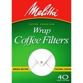 Melitta 627402 Paper White Wrap Coffee Filters- 240 Count