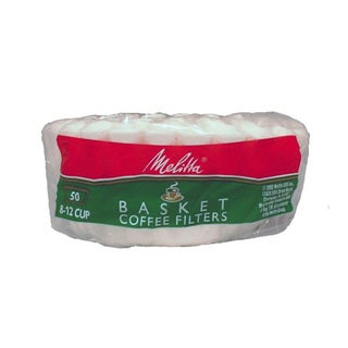 Melitta 62989 Paper White 8-12 Cup Basket Coffee Filters- 300 Count