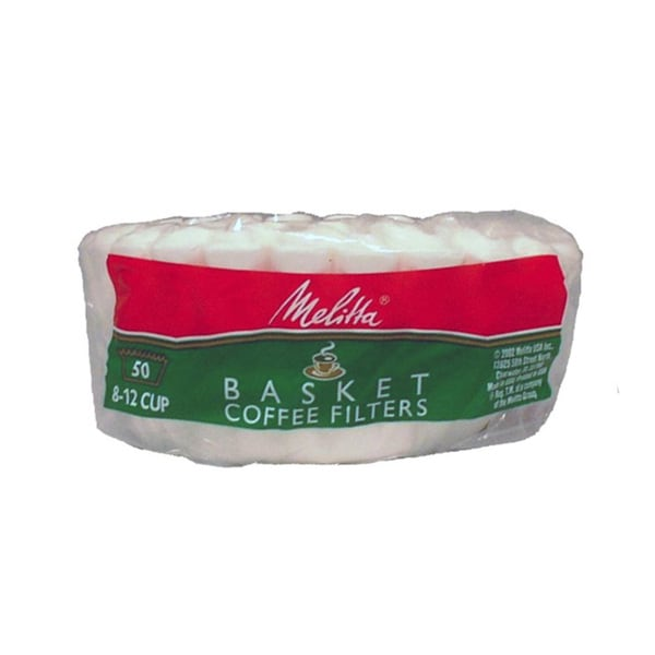 Melitta 62989 Paper White 8-12 Cup Basket Coffee Filters- 300 Count 11533896
