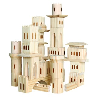 Discovery Kids 69-piece Wooden Castle Block Set