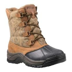 Men's Propet Blizzard Mid Lace Canvas Weathered Brown