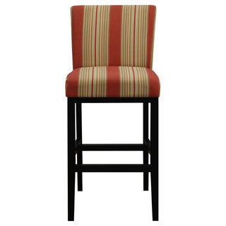 Portfolio Orion Red Stripe Upholstered 29-inch Bar Stool