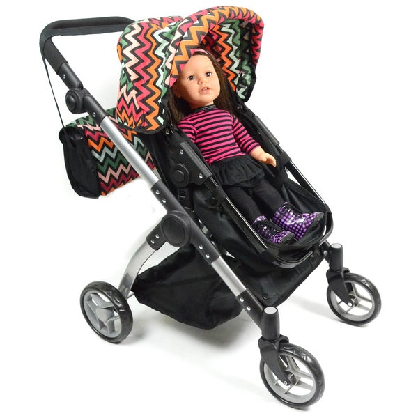 The New York Doll Collection 2-in-1 Convertible Babyboo Doll Stroller with Carriage Bag
