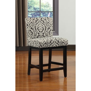 Portfolio Orion Ivory Medallion Upholstered 23-inch Bar Stool