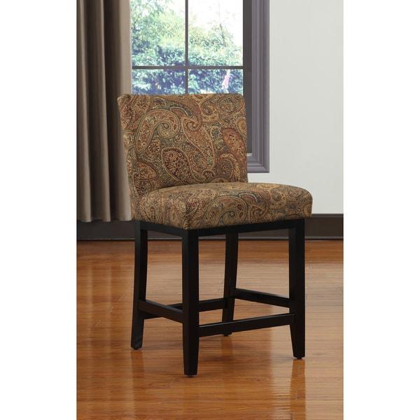 Portfolio Orion Paisley Upholstered 23 Inch Bar Stool