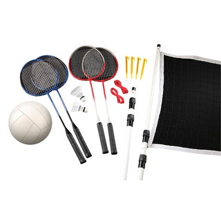 Black Series 2-in-1 Badminton/ Volleyball Game